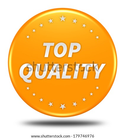 Top quality button isolated