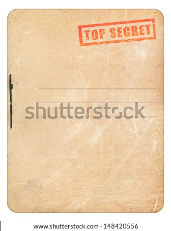 Top secret folder isolated on white background 					 - stock photo