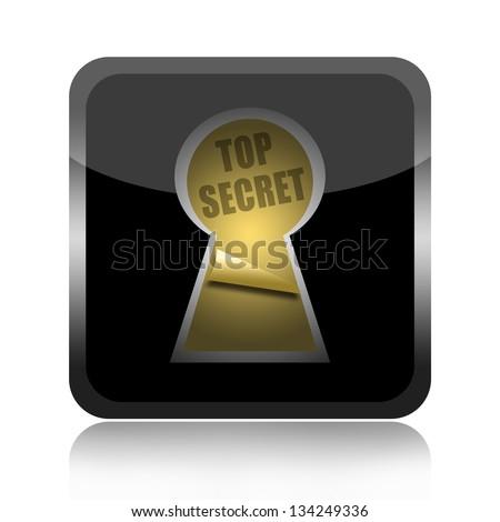 Top secret icon - stock photo