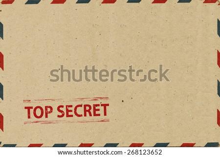 Top secret on  Airmail Envelope - stock photo