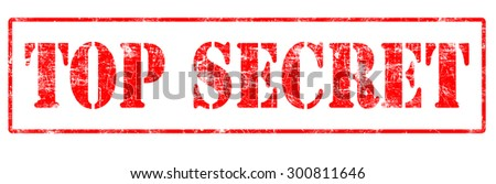 Top Secret - Rubber Stamp - stock photo