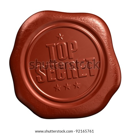 Top secret - seal stamp - stock photo