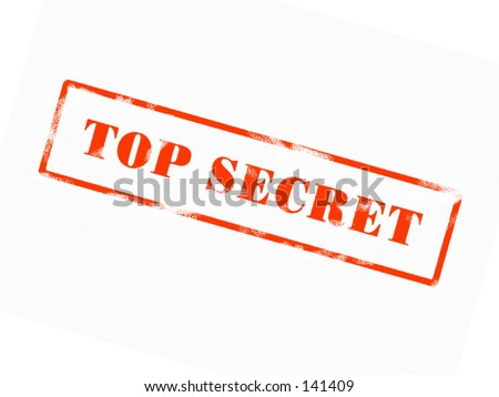TOP SECRET Stamp (red ink) - stock photo
