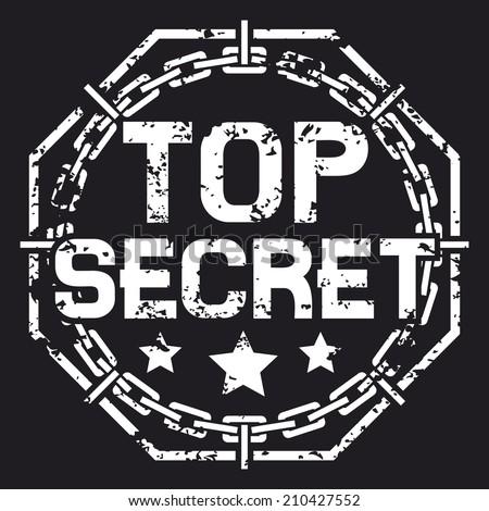 top secret stamp (top secret sign) - stock photo