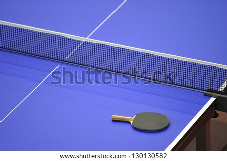 top table tennis championship indoor - stock photo