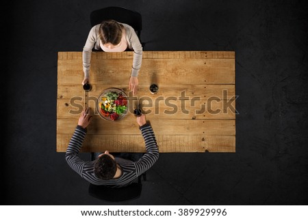 Dining Table Top View dinner top view stock images, royalty-free images & vectors
