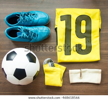 Top View Football Player Gears