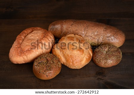 top view fresh bread - stock photo
