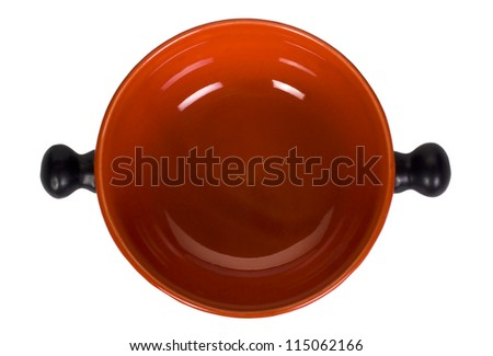 Top view of a saucepan - stock photo