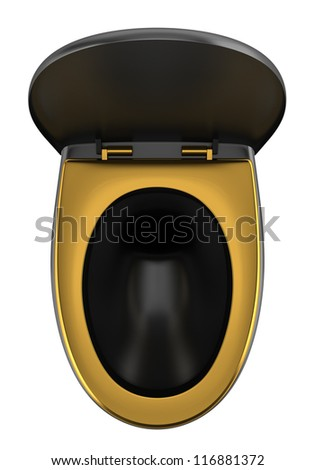 Gold toilet bowl Stock Photos, Images, & Pictures ...