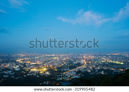 Top view of Chiang Mai, Thailand  - stock photo