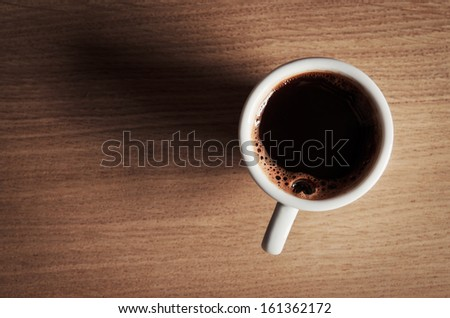 Top view of coffee cup - stock photo