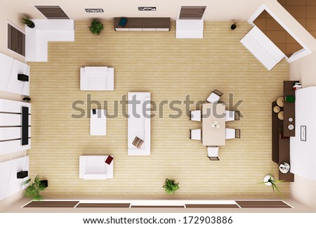 Garden Furniture Top View Psd