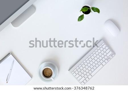 Office Desk Top View