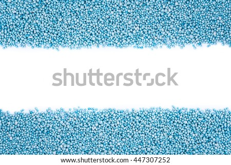 Top view of pattern blue urea fertilizer isolated on white background - stock photo