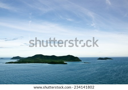 Top view of Peaceful island in Thailand  - stock photo