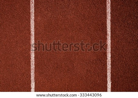 Top view of running track for texture and background, empty for your text