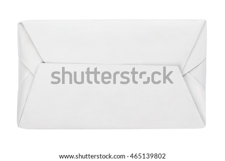 Top view of spread butter wrap box package isolated on white background with clipping path