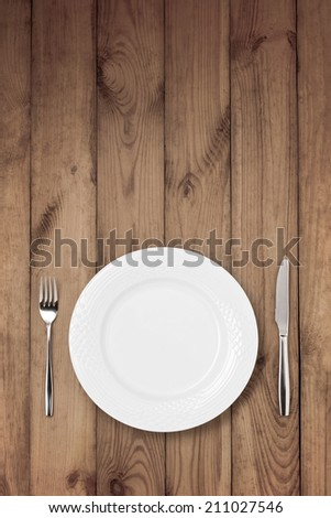 Top view of table setting  - stock photo