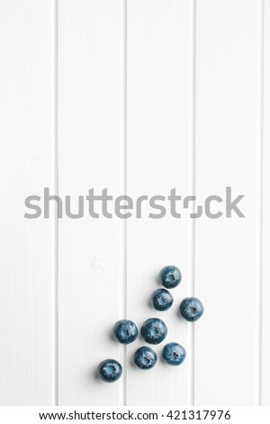 Top view of tasty blueberries fruit. Blueberries are antioxidant organic superfood. - stock photo