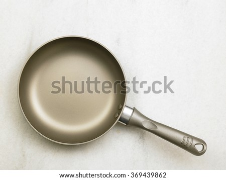 top view of the frying pan - stock photo