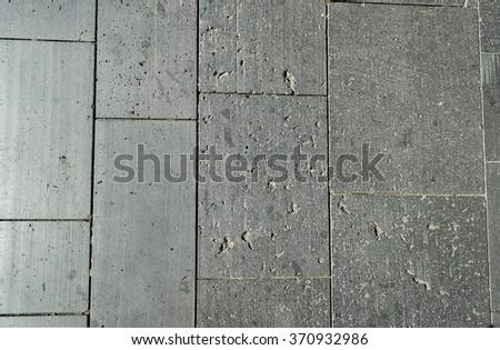Top view of the interlocking concrete pavement - stock photo