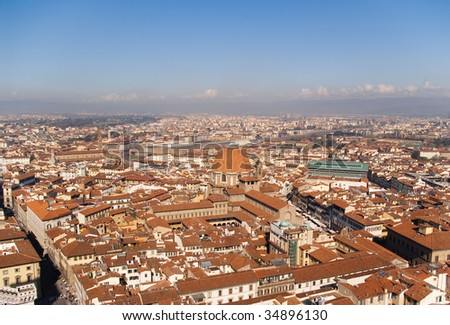 Top view of the old city ,Florence, Italy