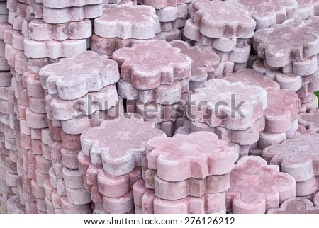 Top view of the paving stone - stock photo
