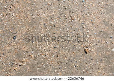 Top view of the sand on Utah Beach, Normandy, France - stock photo