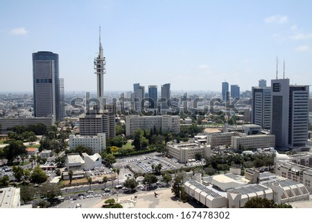 Top view of the Tel Aviv - stock photo