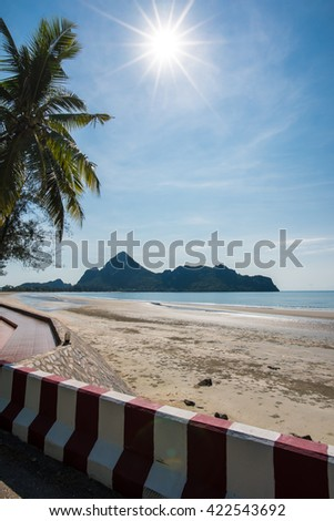 Top view of the thailand sea - stock photo