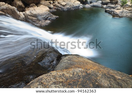 Top view of Waterfall - stock photo