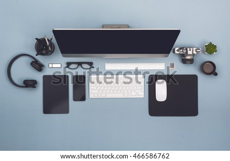 Top view office