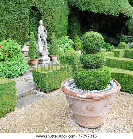 Topiary in a Formal Garden - stock photo
