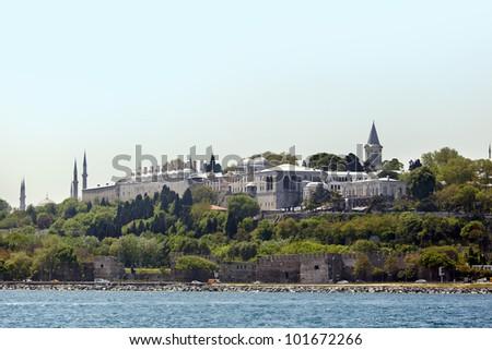 Topkapi Palace istanbul Turkey - stock photo