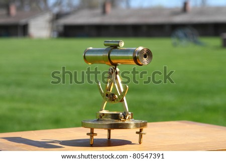 Topographic device for making maps and navigation - stock photo