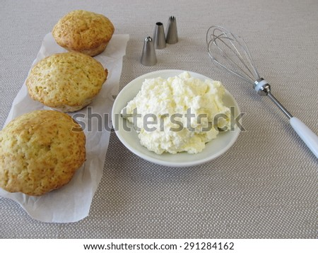 Topping for cupcakes - stock photo
