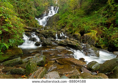 Torc waterfall in Killarney National Park, Co. Kerry, Ireland - stock photo