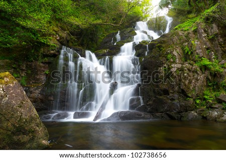 Torc waterfall in Killarney National Park, Ireland - stock photo