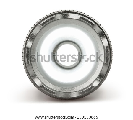 torch glow front on white background - stock photo