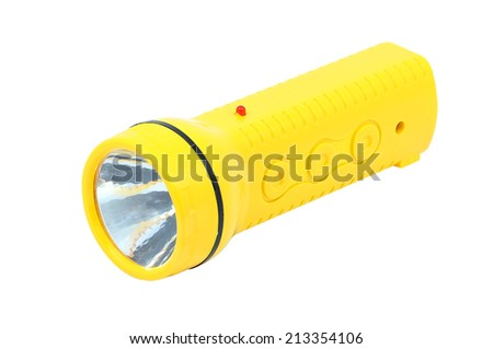 torch on a white background - stock photo