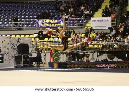 TORINO, ITALY - DECEMBER 04: Joanna Mitrosz during the A1 Italian Championship, last round on December 04 2010 - Torino, Italy. - stock photo