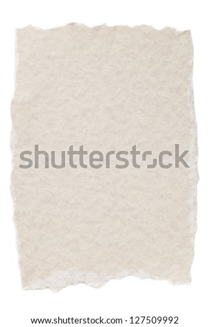 Torn edges paper isolated in a white background - stock photo