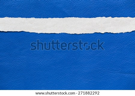 Torn paper background empty for add text, leather texture background - stock photo