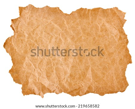 torn paper isolated on a white background