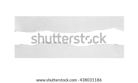 Torn paper, isolated on white background.