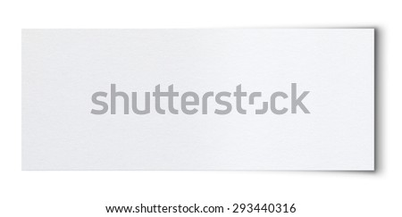 Torn Paper.Isolated on white background. (Clipping Path) - stock photo