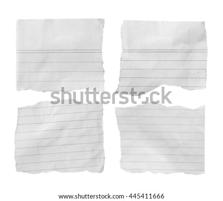 torn paper isolated over white background with clipping path. - stock photo