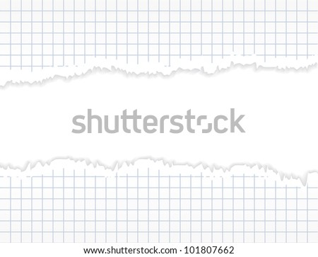 Torn paper. Realistic commercial horizontal background. - stock photo