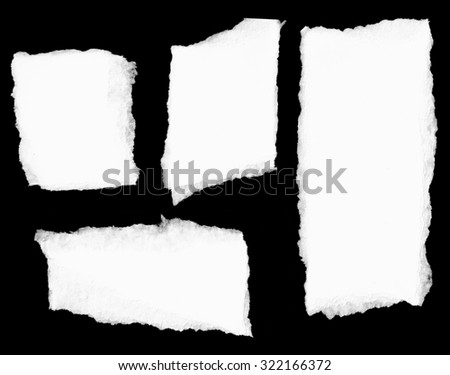 Torn paper. Sign - stock photo